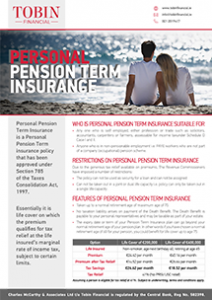 Personal Pension Term Insurance